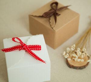 10/24/100 Gastgeschenke Hochzeit Taufe Baby Box Kommunion Schachtel Kraftpapier