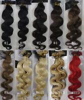 "Women 22""-26"" Remy Human Hair Nail U-Tip  Body Wavy Hair Extensions 1g/s 100gr"