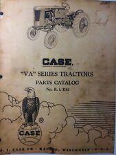 Ji Case Farm Agricultural Gasoline Tractor Model Va Series Parts Manual