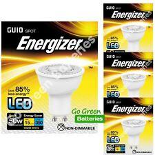 4x Energizer GU10 5W = 50W LED Blub Spotlight 350 Lumens High Power Warm White