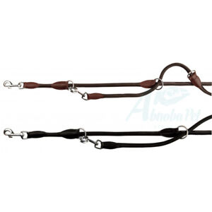 Active Adjustable Dog Leash Lead high-quality genuine leather stitched rounded