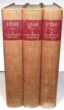 Utah: A Centennial History, 1949 3-volume set