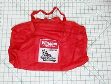 VINTAGE 80s NASCAR WINSTON Racing Duffle Duffel Bag Tote Bag - Collectible Red