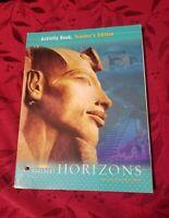 HARCOURT HORIZONS WORLD HISTORY ACTIVITY BOOK TEACHER'S EDITION social studies 6