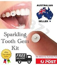 Tooth Gem Kit Finest Austrian Crystal Jewels 5x Rhinestones + Glue & Pads SET