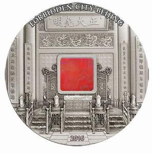 Palau 2016 China Empire Forbidden City Agate 20 Dollars 5oz Silver Coin