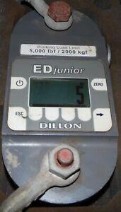 DILLON ED JUNIOR  DYNAMOMETER 5000 LBF/ 2000 KGF CAPACITY DIGITAL LOAD CELL