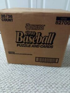 Donruss 1990 Wax Pack FACTORY SEALED case 20 cartons 36 packs each