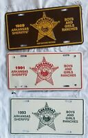 1989 - 2015 Arkansas Sheriff's Association Booster License Plate