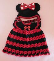 American Girl Doll Clothes Red Minnie Dress & Hat Fit Bitty Baby/Berenguer 15-17