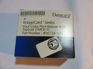 OEM Datacard YMCKT 806124-104 Four Color Print Ribbon With Topcoat (YMCK-T)