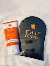 BB Body Glow Gradual Self-Tanning Perfecting Cream by Tan Towel 5.7 oz FREE Mit