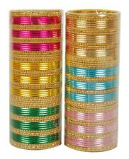 Indian Bangles Box Bollywood Set Multi Color Fashion Designer Wedding Bangles