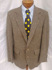 42 R Mens Christian Brooks Camel Hair Blazer Coat Jacket 2 Btn Houndstooth