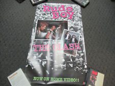 VINTAGE 1991 THE CLASH RUDE BOY VHS VIDEO CASSETTE RELEASE PROMO MOVIE POSTER