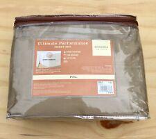 Kohls Sonoma Ultimate Performance Full Sheet Set Cotton Sateen Tan Bedding - New