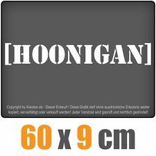 Hoonigan  chf0186 weiß 60 x 9cm Heckscheibenaufkleber Auto Car Scheibenaufkleber