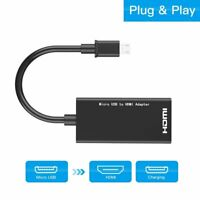 Micro USB2.0 Male To HDMI Female Adapter Converter Cable for Mobile Phone Tablet
