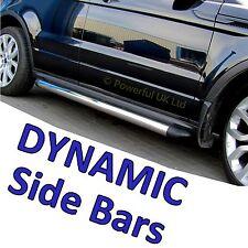 Range Rover Evoque chrome side bars for DYNAMIC model stainless steel tubes step
