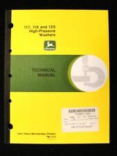 ORIGINAL JOHN DEERE 117 118 120 HIGH PRESSURE WASHER SERVICE REPAIR MANUAL
