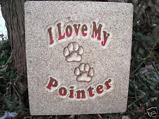 Pointer dog plaque stepping stone mold mould