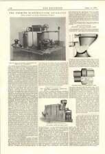 1894 elettrico di HERMITE trattamento acque reflue spartana cummer mattone terra in ceramica Bond
