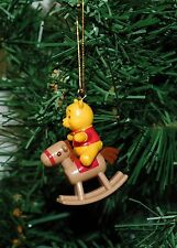 Winnie The Pooh On A Rocking Horse Mini Christmas Ornament