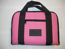 "Pink Pistol Handgun Firearm Padded Soft Case Bag Magazine Pockets 12"" X 9"""