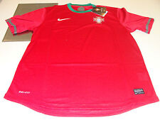 UEFA 2012 Euro Cup Home Red Jersey XS Portugal Soccer Dri Fit Boys Kids