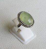 Prehnite Ring 925 Sterling Silver Ring Size 8 3/4 US Gemstone Ring R0220