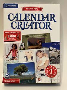 Broderbund The All-New Calendar Creator For Windows & Mac Personalized Calendars