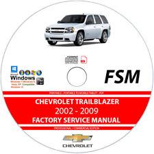 Repair Manuals Literature For Chevrolet Trailblazer For