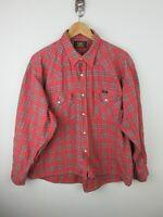 Lee Sanforized Mens Shirt Size XL Long Sleeve Button Up Regular Fit Vintage Rare