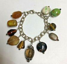 BOHO POLISHED Stone Charm Bracelet