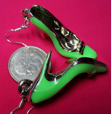 Unique GREEN 925 EARRINGS HIGH HEEL SHOES STILETTO VALENTINE DAY Nora Winn