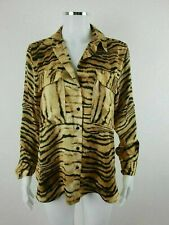 ZARA Tiger Animal Smart Casual Party Blouse Shirt Top Size S UK Size 10