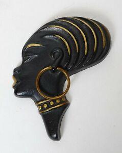 Vintage mid-century Hagenauer style African Female head wall decoration (#3)