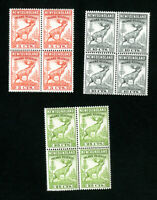 Newfoundland Stamps # NFR46-8 XF OG NH Revenue Block of 4 Set of 3