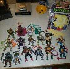 Vintage TMNT Ninja Turtles Figure Lot of 15  Playmates ACCESSORIES Weapons/Card