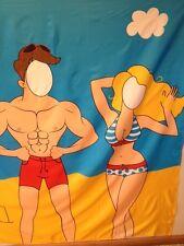 Multi-Color  funny cartoon  Design  Fabric Shower Curtain