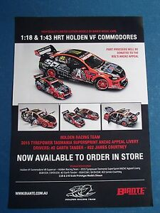 BIANTE 1:18 BROCHURE VF COMMODORE HRT 2015 ANZAC APPEAL LIVERY TANDER/COURTNEY