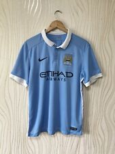 MANCHESTER CITY 2015 2016 HOME FOOTBALL SHIRT SOCCER JERSEY NIKE 658886-489