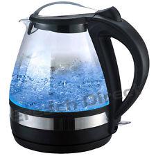 Bertelin Illuminated Glass Kettle 360 Cordless Electric 1.6L - Blue Illuminating