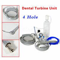 Dentaire Portable Air Turbine Unit Work w/ Compressor 4H + High Speed Handpiece