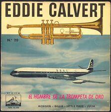 EDDIE CALVERT N°20 AVION BOAC BRITISH AIRWAYS COMET RARE 45T EP PATHE 7EPL 13386