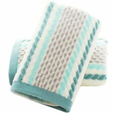 "Coastal Decor 100% Cotton Set of 2 Absorbent Soft Hand Towels Striped 13"" x 28"""