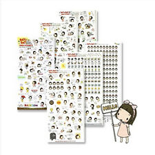 Kawaii Pony Brown Diary Decoration Sticker Day & Day