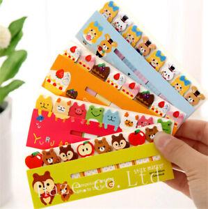 1pc Anime Stationery Memo Sticker Note PadCute Animal Stick Marker Random