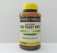 120 CAPSULES RED YEAST RICE 1200 mg / 2 CAPS lower cholesterol NEW LABEL