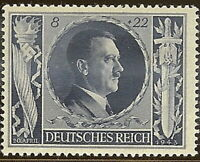 Stamp Germany Mi 846 Sc B233 1943 WW2 Fascism Hitler Birthday MNH